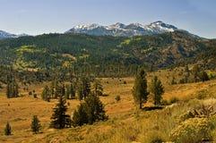 加利福尼亚山内华达全景山脉 库存图片