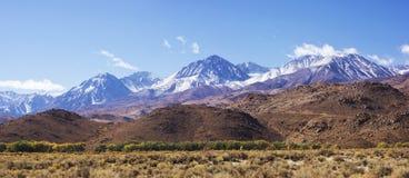 加利福尼亚山内华达山脉 库存图片