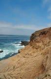 加利福尼亚峭壁海洋岩石 库存照片