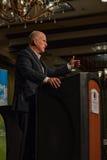 加利福尼亚州长埃德蒙G 布朗小 发言在2016个SEJ会议17上 库存照片