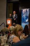 加利福尼亚州长埃德蒙G 布朗小 发言在2016个SEJ会议14上 库存图片
