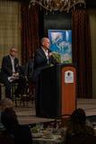 加利福尼亚州长埃德蒙G 布朗小 发言在2016个SEJ会议10上 库存照片