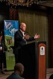 加利福尼亚州长埃德蒙G 布朗小 发言在2016个SEJ会议9上 图库摄影