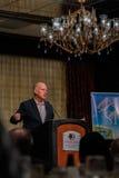 加利福尼亚州长埃德蒙G 布朗小 发言在2016个SEJ会议8上 库存图片