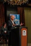 加利福尼亚州长埃德蒙G 布朗小 发言在2016个SEJ会议5上 免版税库存图片