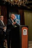 加利福尼亚州长埃德蒙G 布朗小 发言在2016个SEJ会议4上 免版税图库摄影
