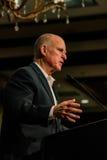 加利福尼亚州长埃德蒙G 布朗小 发言在2016个SEJ会议2上 免版税库存照片