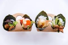 加利福尼亚手卷寿司集合 免版税库存图片