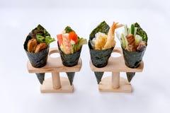 加利福尼亚手卷寿司集合 免版税库存照片