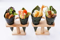 加利福尼亚手卷寿司集合 免版税图库摄影