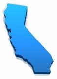加利福尼亚映射概述状态团结了 免版税库存图片