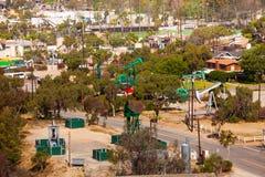 加利福尼亚是主要油萃取区域在美国 库存图片