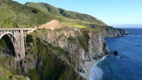 加利福尼亚沿海方式 免版税库存图片