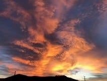 加利福尼亚沿海生动的日出pismo海滩阿维拉morro海湾 免版税库存照片