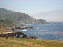 加利福尼亚沿海高速公路 库存图片