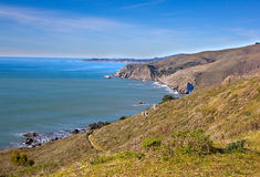 加利福尼亚海岸线在Tamalpais国家公园,马林县 图库摄影