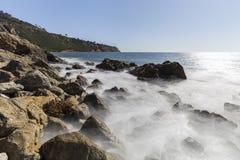 加利福尼亚海岸视图兰乔帕洛斯Verdes 免版税库存图片