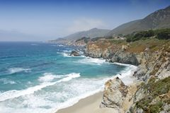 加利福尼亚海岸 库存图片