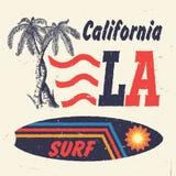 加利福尼亚海浪 手工制造棕榈树 免版税库存照片