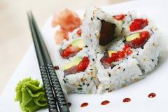 加利福尼亚滚寿司 免版税库存图片