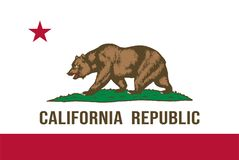 加利福尼亚状态向量旗子 免版税库存图片