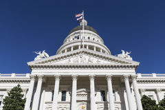 加利福尼亚状态国会大厦建筑学 免版税图库摄影
