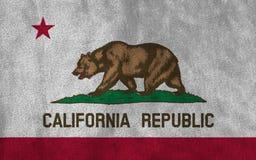加利福尼亚状态美利坚合众国旗子  库存图片