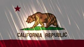 加利福尼亚状态Loopable旗子 库存例证