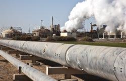 加利福尼亚能源地热工厂 免版税库存图片