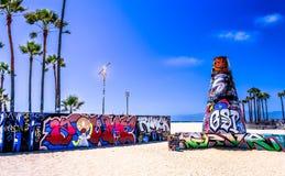加利福尼亚街道画艺术 免版税图库摄影