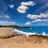 加利福尼亚豆凹陷国家海滩在Cabrillo Hwy 库存照片