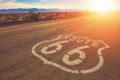 加利福尼亚路线66莫哈韦沙漠 免版税库存图片