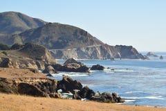 加利福尼亚路线1风景HWY 免版税库存图片
