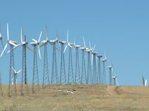 加利福尼亚风力场 库存照片
