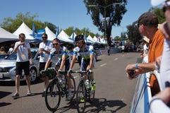 加利福尼亚骑自行车者2013游览  库存图片
