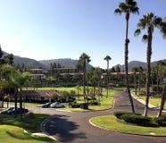 加利福尼亚高尔夫球手段和别墅 免版税库存图片