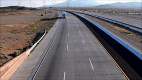 加利福尼亚高速公路卡车美国 股票录像