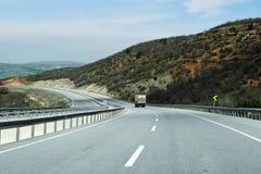 加利福尼亚高速公路卡车美国 库存图片