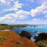 加利福尼亚鸽子点海滩在Cabrillo Hwy沿海hwy 1 库存图片