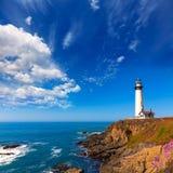 加利福尼亚鸽子点灯塔在Cabrillo Hwy沿海hwy 1 图库摄影