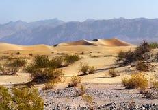 加利福尼亚死亡国家公园谷 免版税图库摄影