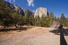 加利福尼亚capitan el国家公园优胜美地 库存照片