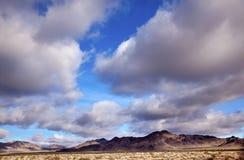 加利福尼亚cloudscape沙漠 库存照片