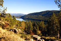 加利福尼亚donner湖 免版税库存图片