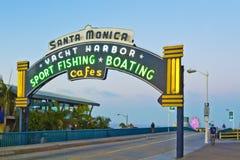 加利福尼亚monica码头圣诞老人 免版税库存图片