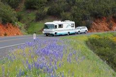 加利福尼亚motorhome 库存照片