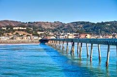 加利福尼亚pacifica码头海运通知 免版税库存照片