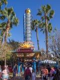 加利福尼亚Screamin,迪斯尼加利福尼亚冒险公园 图库摄影