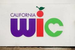加利福尼亚WIC商标 库存图片