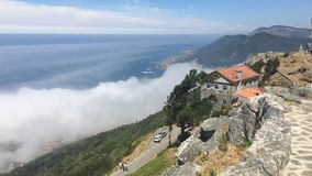 加利西亚天空 免版税库存照片